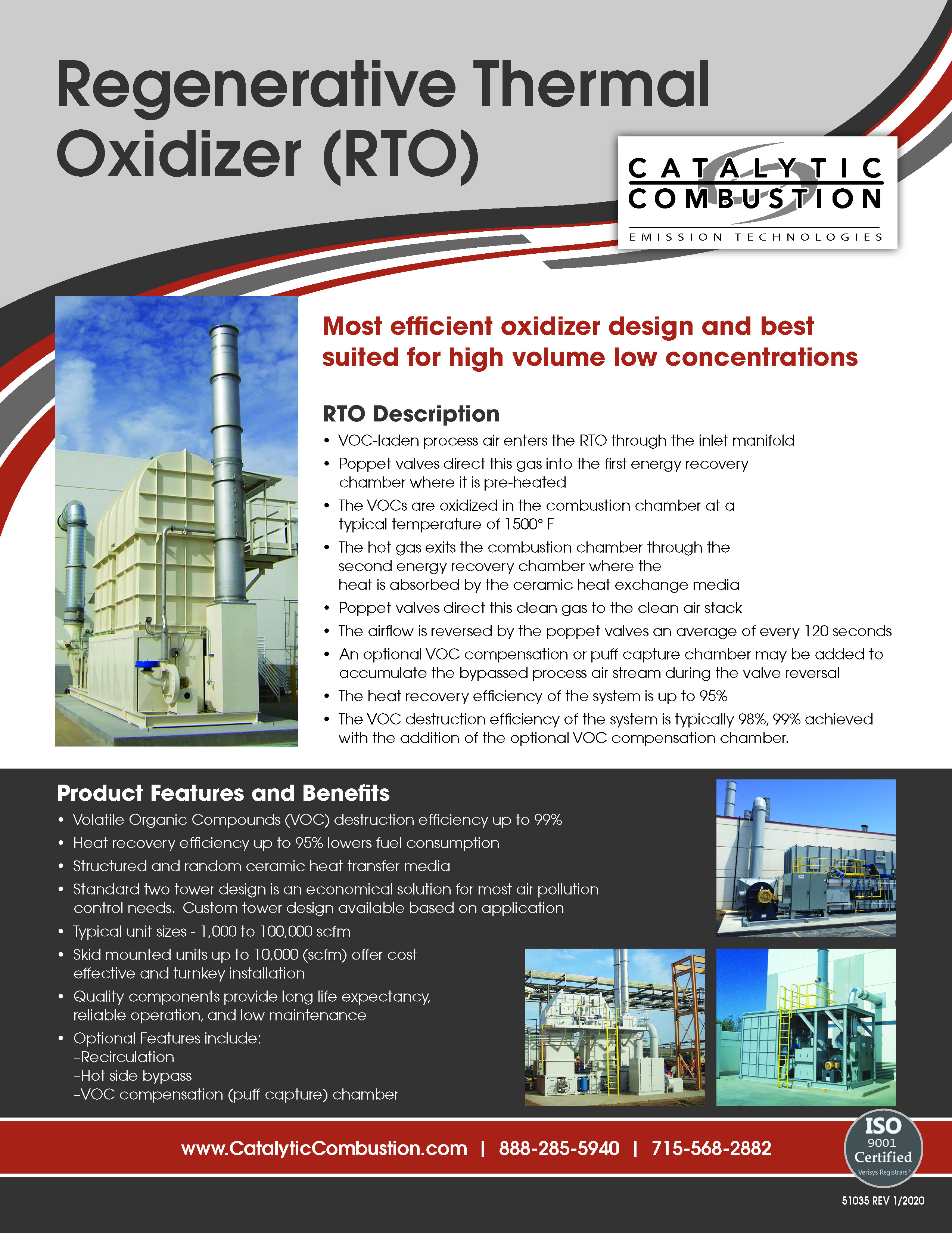 Catalytic Combustion - Regenerative Thermal Oxidizer