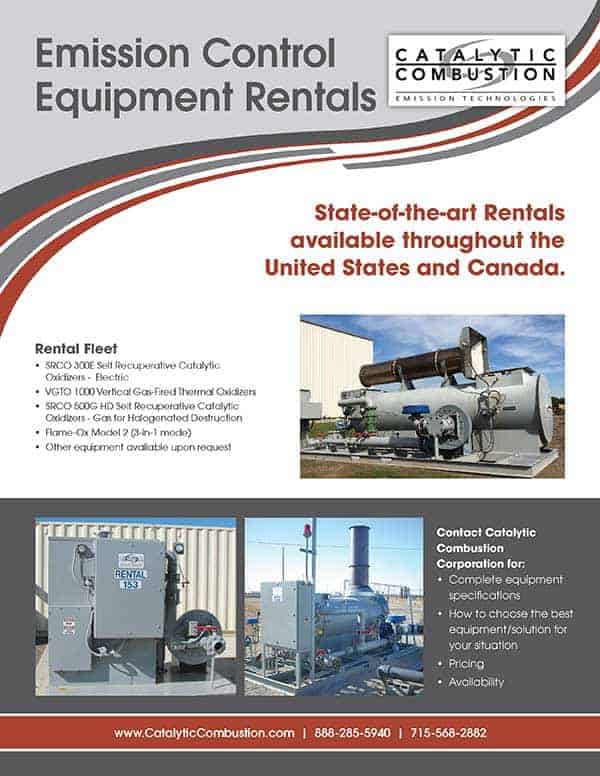 Catalytic Combustion Emission Control Equipment Rentals