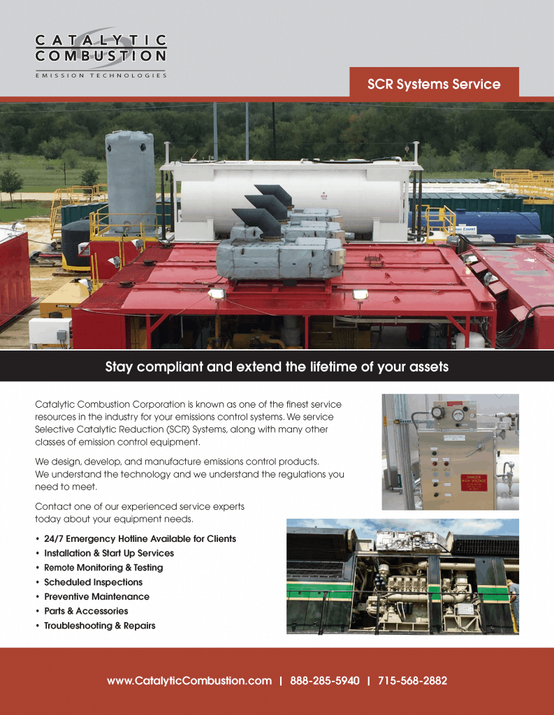 Catalytic Combustion scr systems service