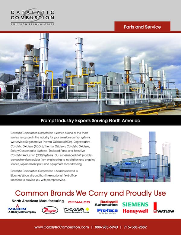 Catalytic Combustion Parts Service Brochure