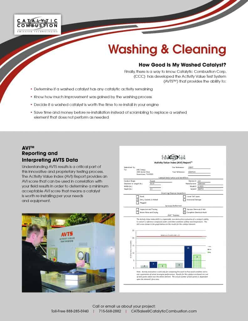 Catalyst Washing and Cleaning temp