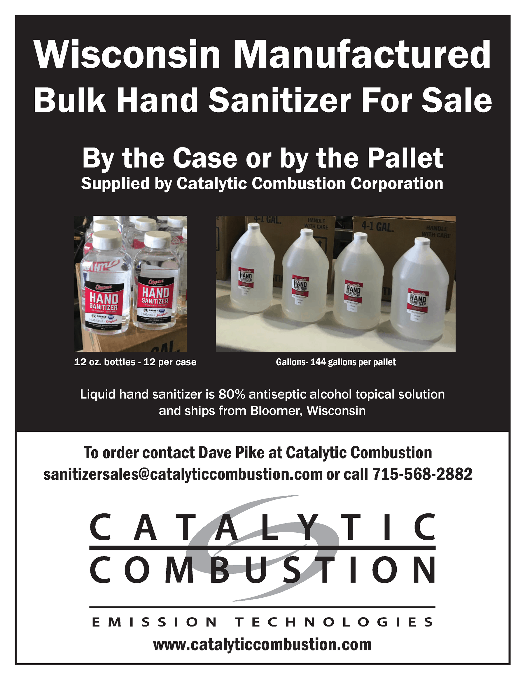 Sell Sheet Hand Sanitizer