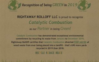 Catalytic Combustion Green Certificate